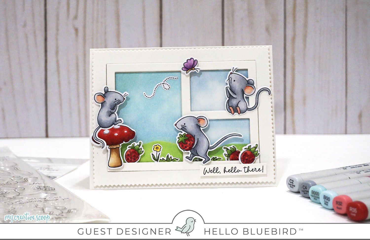 Hello Bluebird New Release + How to color a mouse using Copic Markers