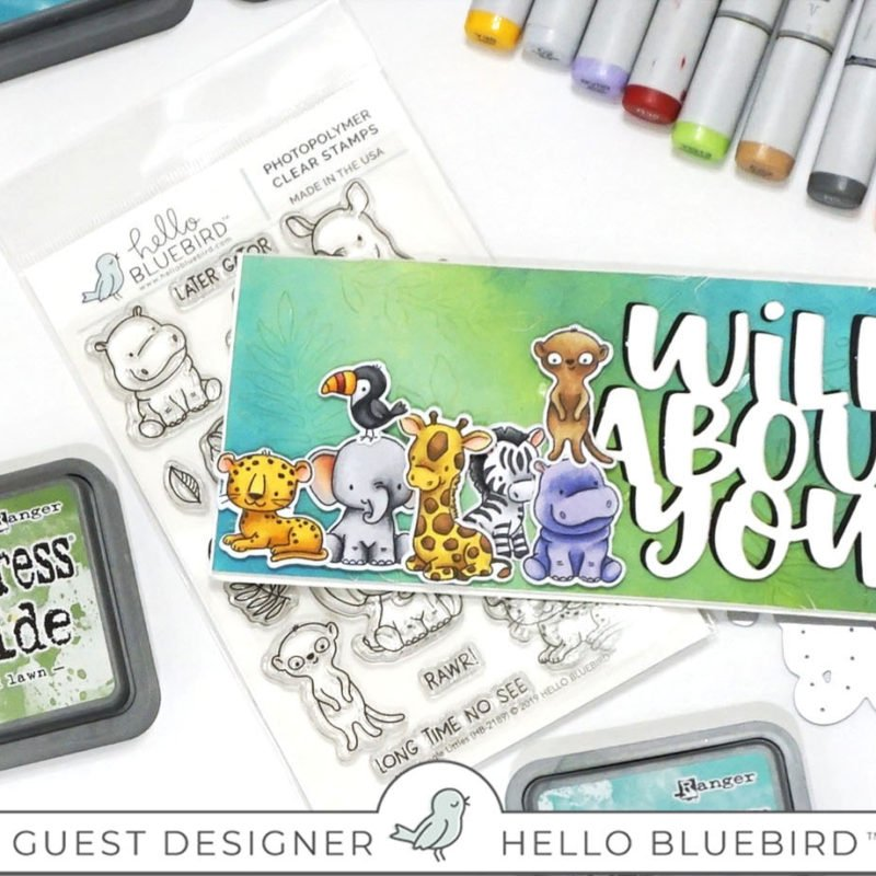 Hello Bluebird Release + How to color a giraffe using Copic Markers