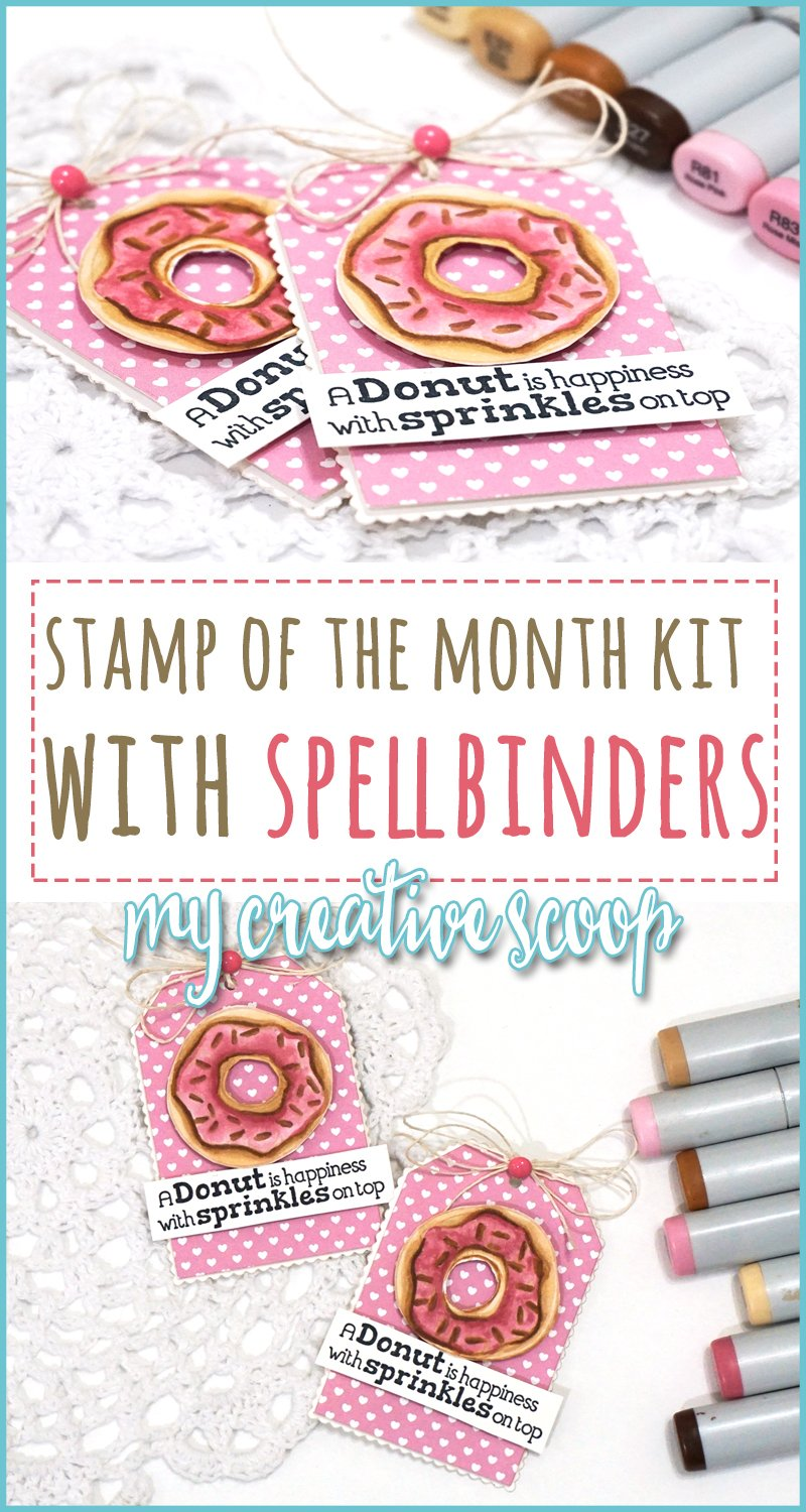 Spellbinders Stamp of the Month +Favorite Pink Copic Marker Color Combo