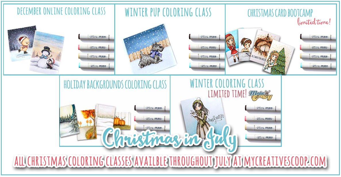 Christmas in July Online Coloring Classes Re-Opened