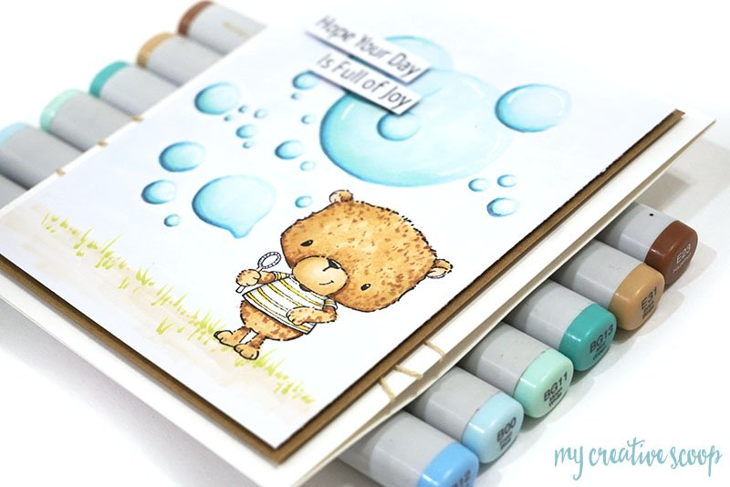 Creating Bubbles with Copic Markers and Purple Onion Designs Stamps