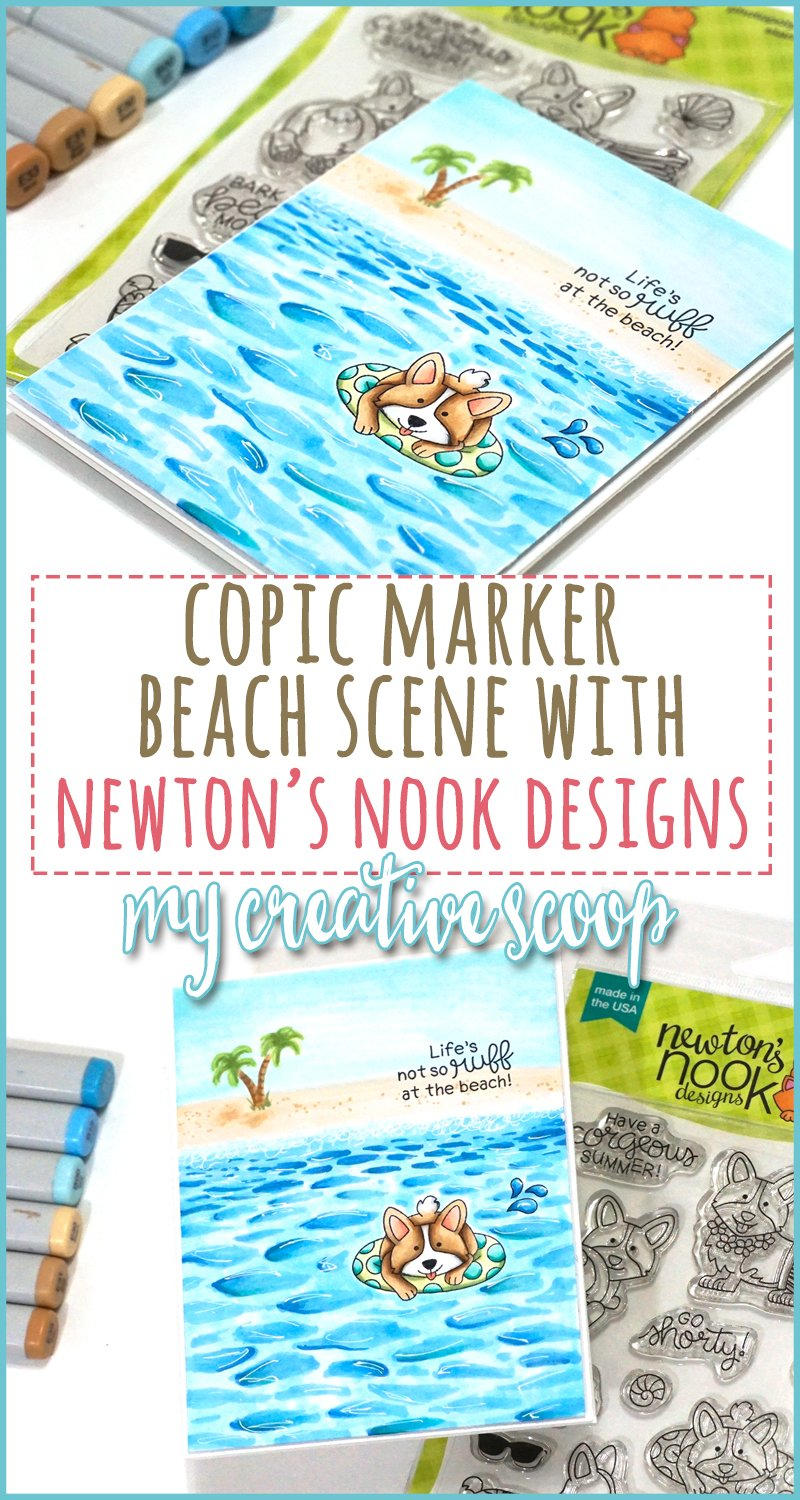Beach Scene with Copic Markers and Newtons Nook 4
