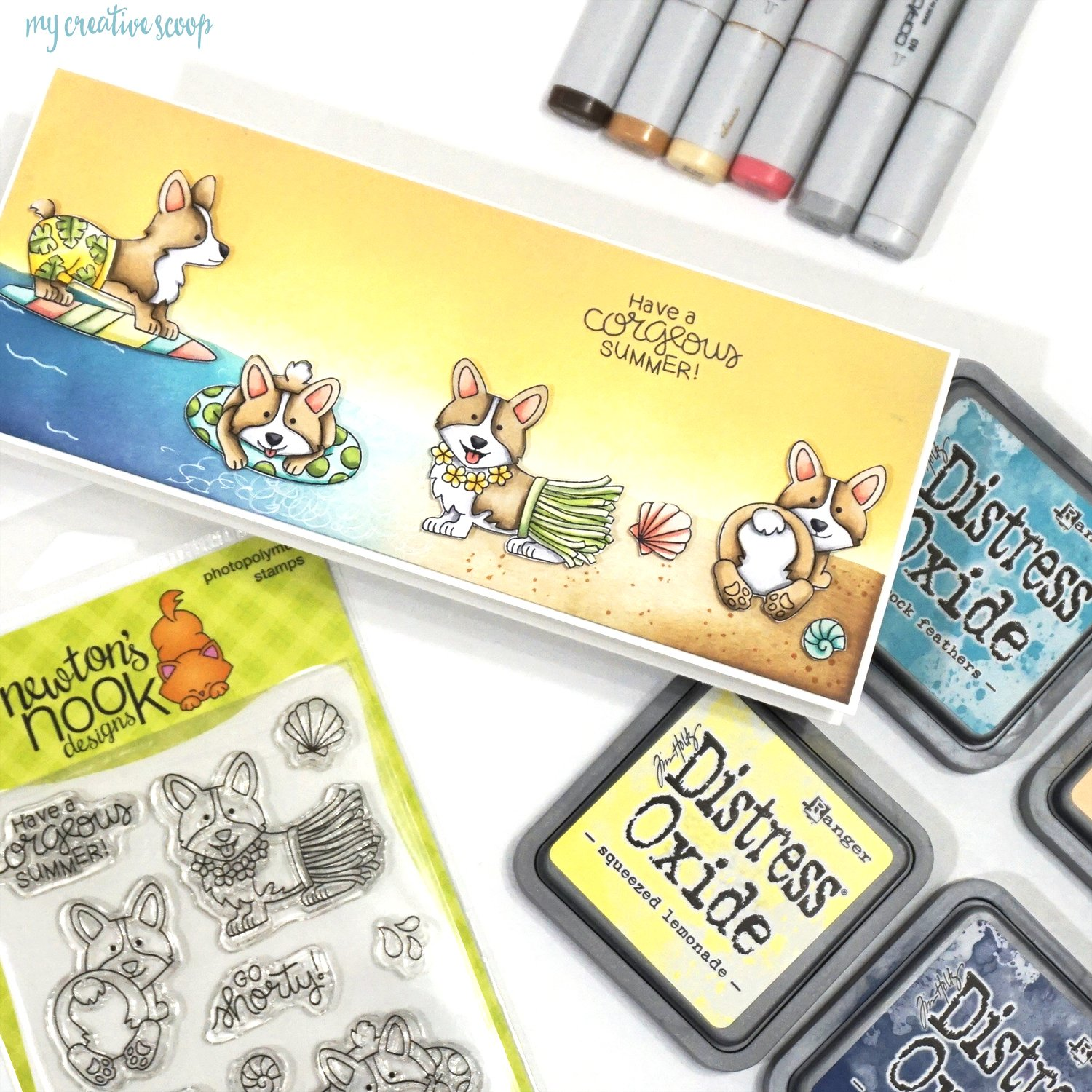 How to Color a Corgi using Copic Markers from Newton's Nook