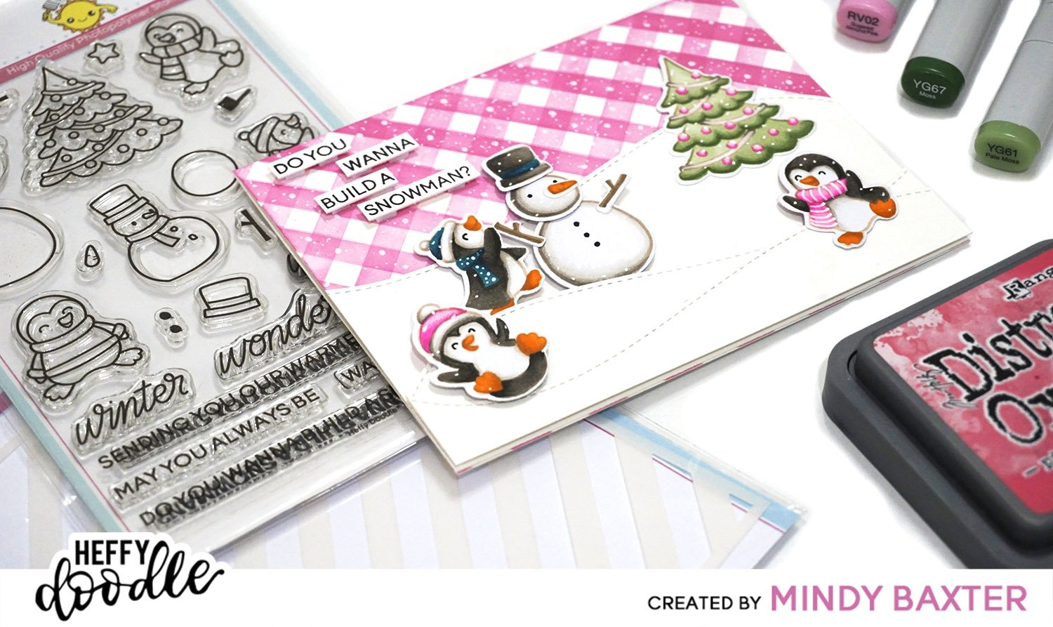 Creating Plaid with a Striped Stencil + Copic Coloring for ...
