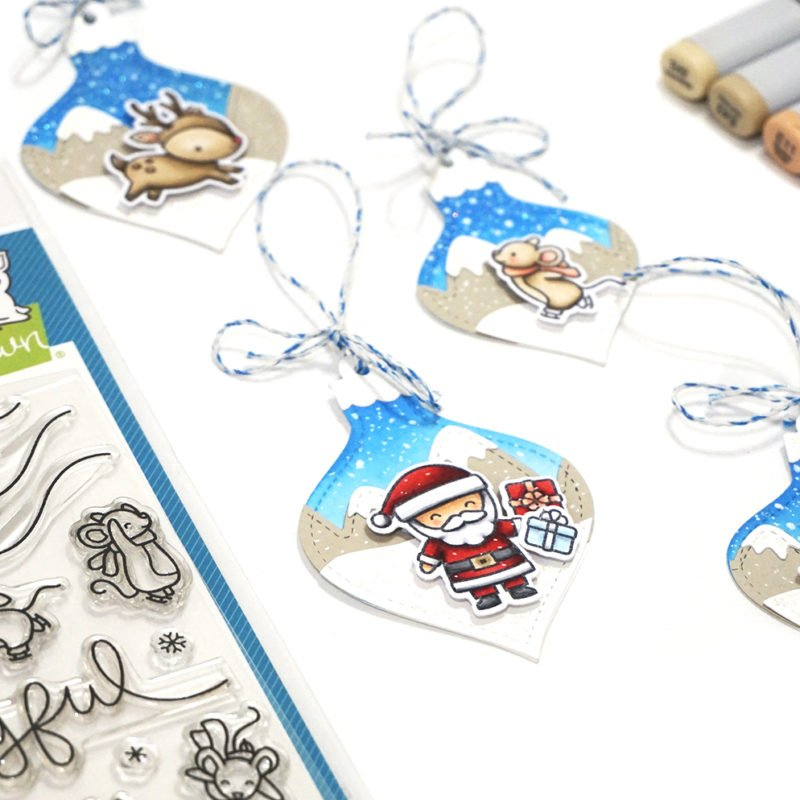 Lawn Fawn Christmas Tag and Copic Video Tutorial for Scrapbook Pal