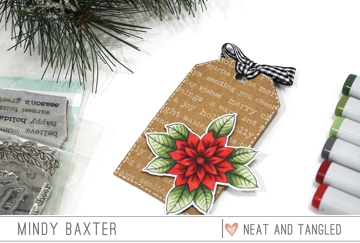 25 Days of Christmas Tags Day 18 with Neat and Tangled