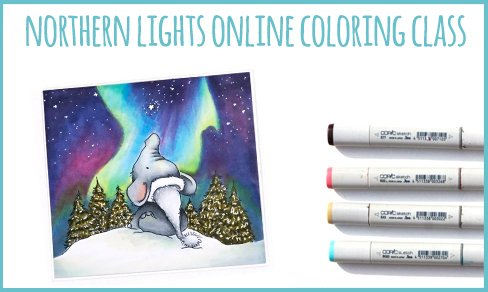 Northern Lights Online Coloring Class