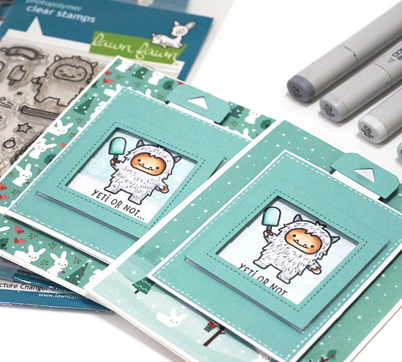 Copic Coloring and Lawn Fawn Magic Picture Changer Video Tutorial