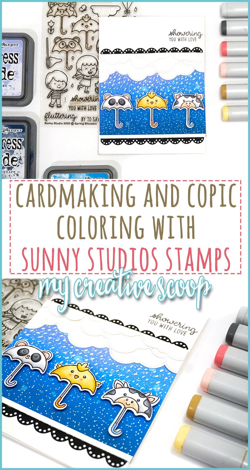 Cardmaking and Copic Coloring with Sunny Studio Stamps