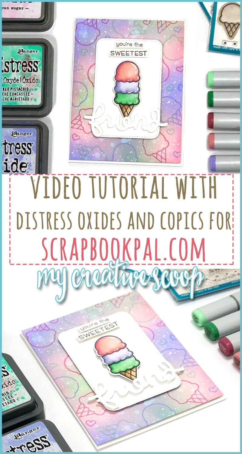 Distress Oxide Background and Copic Video Tutorial with Lawn Fawn