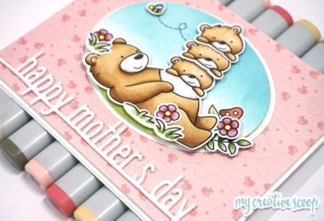 Mother's Day Card and Copic Marker Video Tutorial for Scrapbookpal.com