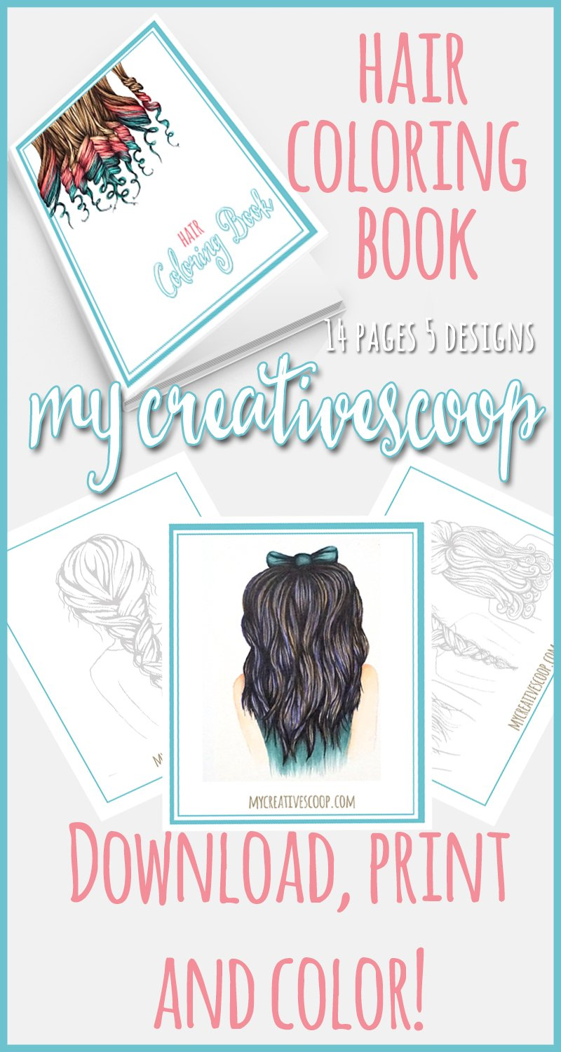 FREE Hair Coloring Book Download