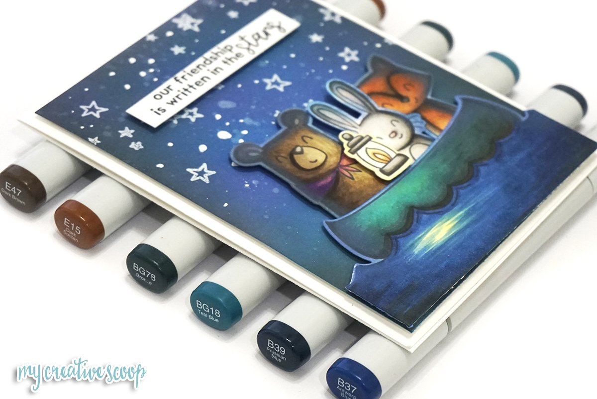 Create a Night time Scene with Ellen Hutson and Avery Elle NEW Stamp Set + Video Tutorial