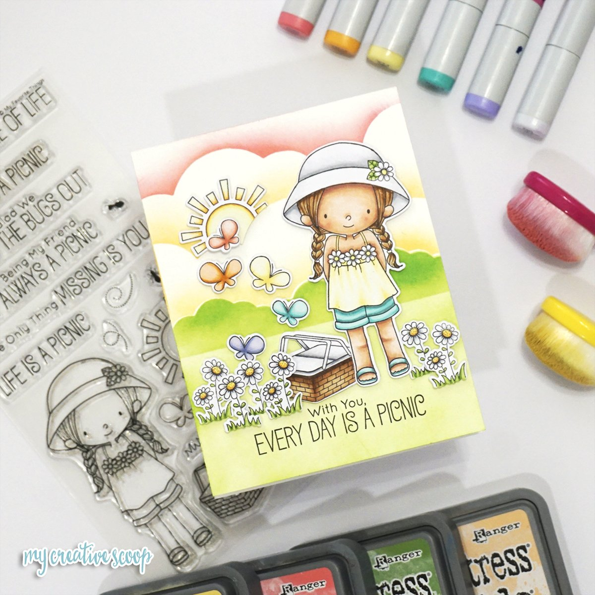 My Favorite Things Card + Copic Tutorial