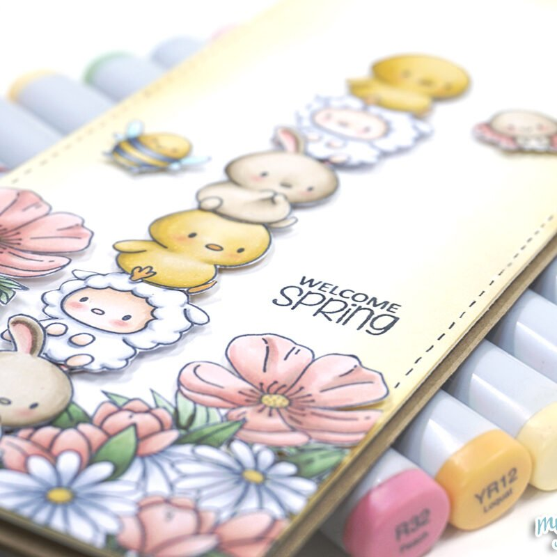 Copic Coloring + Clearly Besotted Stamps Video Tutorial