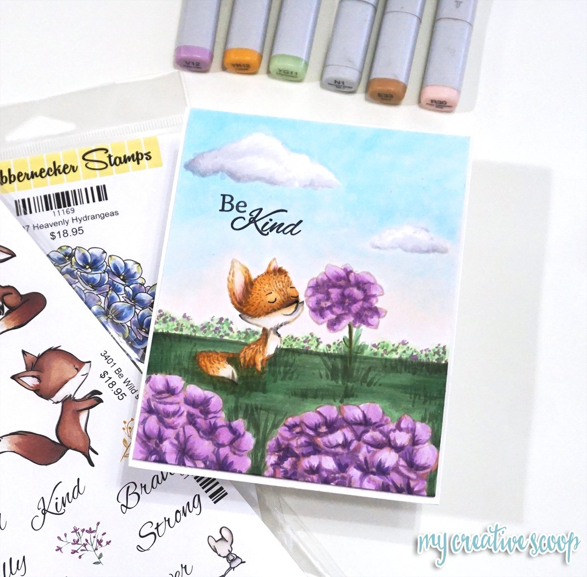 Create Depth Perception with Different Size Stamps