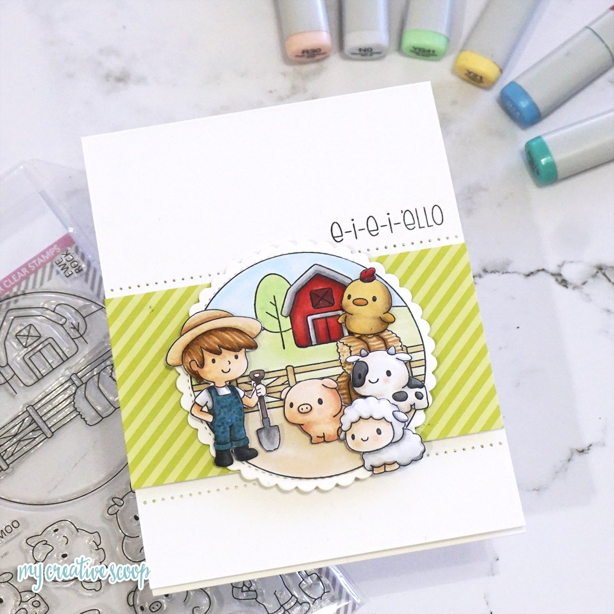3D Effect Tutorial for your Stamped Images using Clearly Besotted